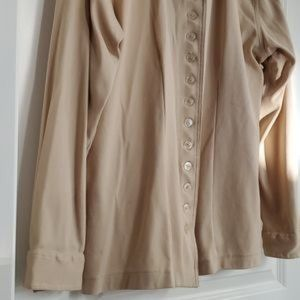 Vintage Top 12 Buttons Long Sleeve Cream
